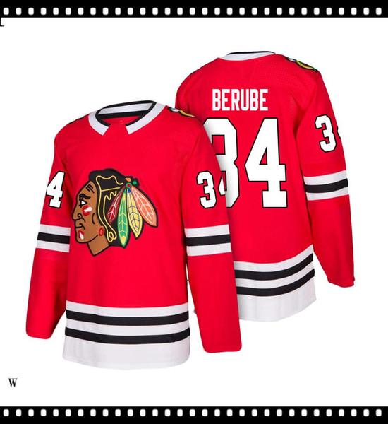 2019 2020 Hockey Jerseys Quick Dry AZUL vermelho bordado Logos frete grátis baratos Men atacado em tamanho Jersey6324