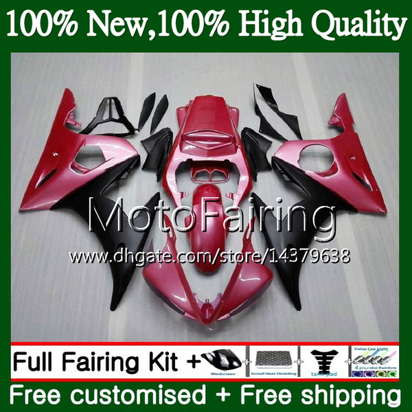 Cuerpos Para YAMAHA YZF R6 S 06 YZF600 YZFR6S 06 07 08 09 Rosa negro 102MF7 YZF-600 YZF R6S YZF-R6S 2006 2007 2008 2009 Carenado Kit de carrocería