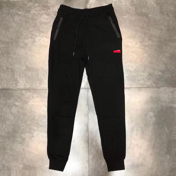 2020 Kutu Logo Lüks Erkek Tasarımcı Pantolon Günlük Erkek Moda Pantolon Yüksek Kalite Hip Hop Erkekler Spor Jeans