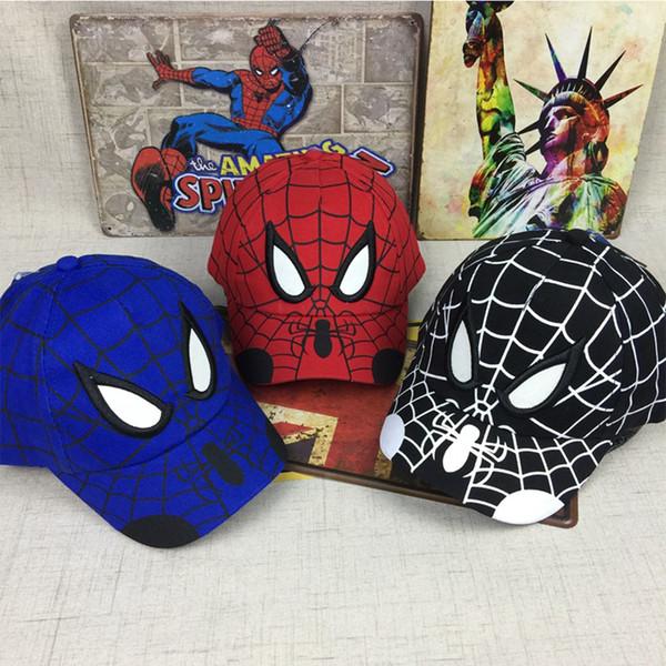 2018 Spiderman Cartoon Children Embroidery Cotton Baseball Cap Kids Boy Girl Hip Hop Hat Spiderman Cosplay Hat