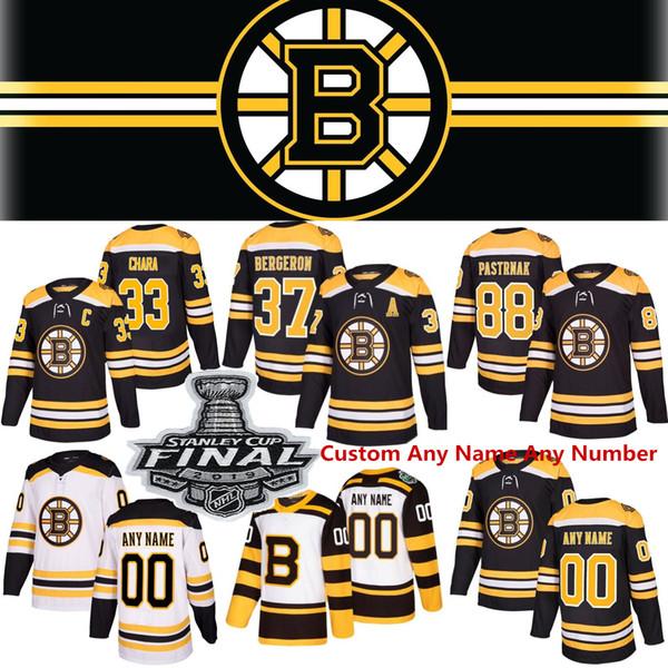 Bo ton bruin jer ey 88 david pa trnak 37 patrice bergeron brad marchand zdeno chara tuukka ra k jake debru k 46 david krejci hockey jer ey, Black;red