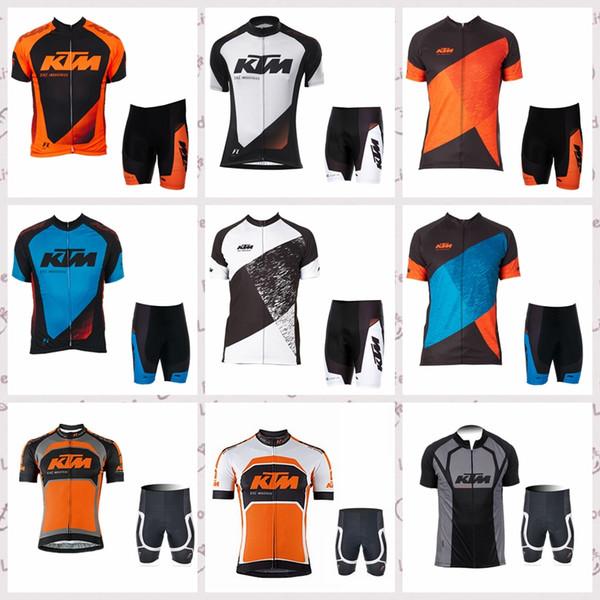KTM Yarış ekibi Bisiklet Kısa Kollu forması şort setleri Bahar ve yaz bisiklet Forması takım erkek sportshirt 521022