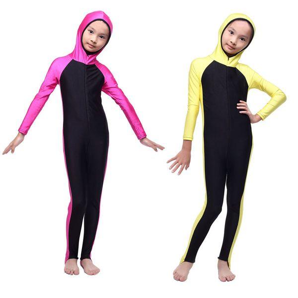 Bikini Meisje New Muslim Children Clothing Swimwear Girls Split Two Pieces Swimsuit With Cover Up Bathing Suit Beachwear