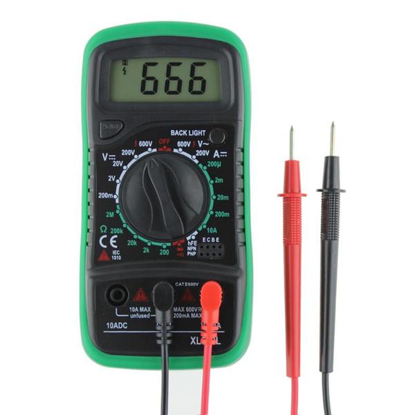 XL830L Portable Digital Multimeter Voltmeter Ammeter OHM Volt Tester LCD Test Current Meter Overload Protection Multimeter AC DC