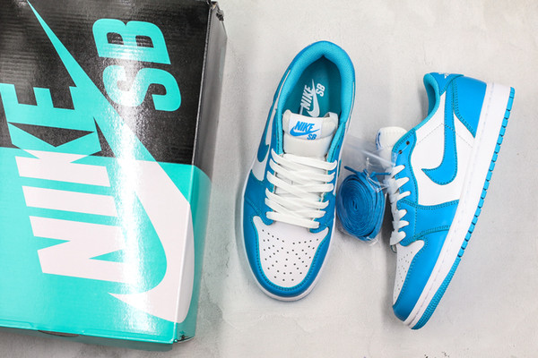 "2019 Nike SB X Air Jordan 1 Low ""UNC"" Zapatillas De Running Para Mujer Para Hombre Dark Powder Blue White 1s Designer Basketball Sneakers CJ7891 401"
