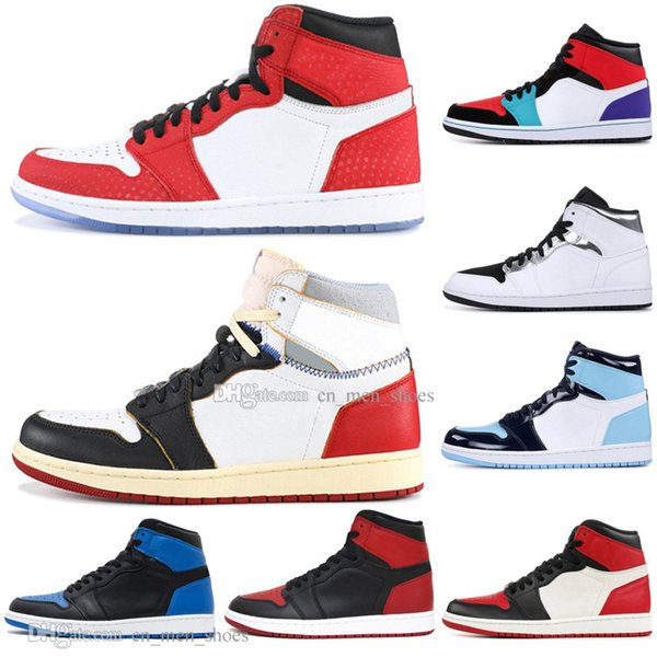 Cheap 1 High OG Banned Bred Toe Spider-Man UNC 1s top 3 Mens Basketball Shoes Homage To Home Royal Blue Men Sport Designer Sneakers US5.5-13