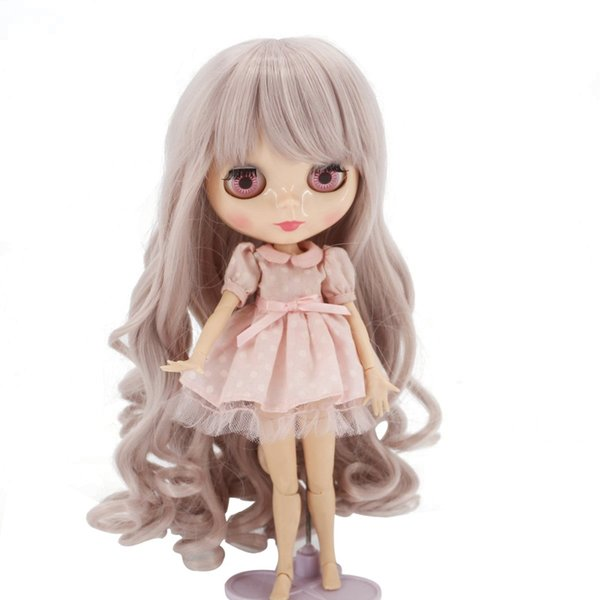 25cm Head Circumference High Temperature Fiber Synthetic Loose Spiral Curly Wavy With Bangs Doll Wigs for Bly the/Pullip Doll