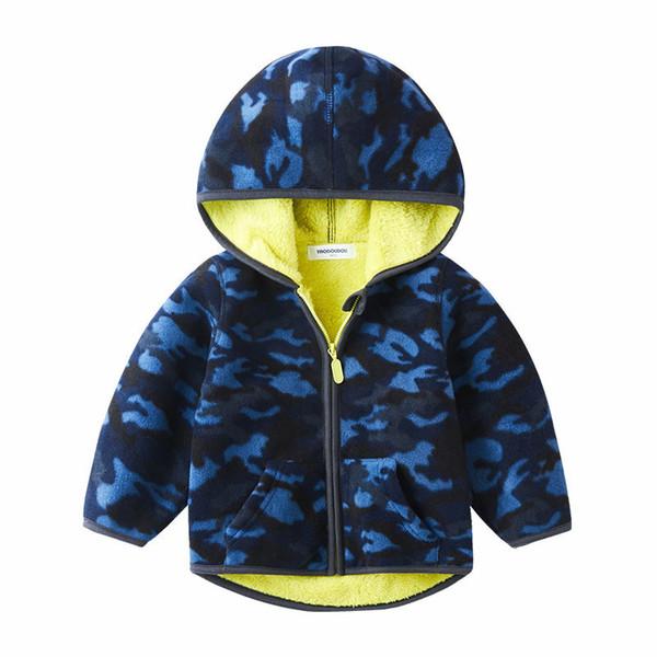Fleece jacket boy child 2019 new children Korean version plus velvet spring autumn winter clothes baby trendy thickening coat