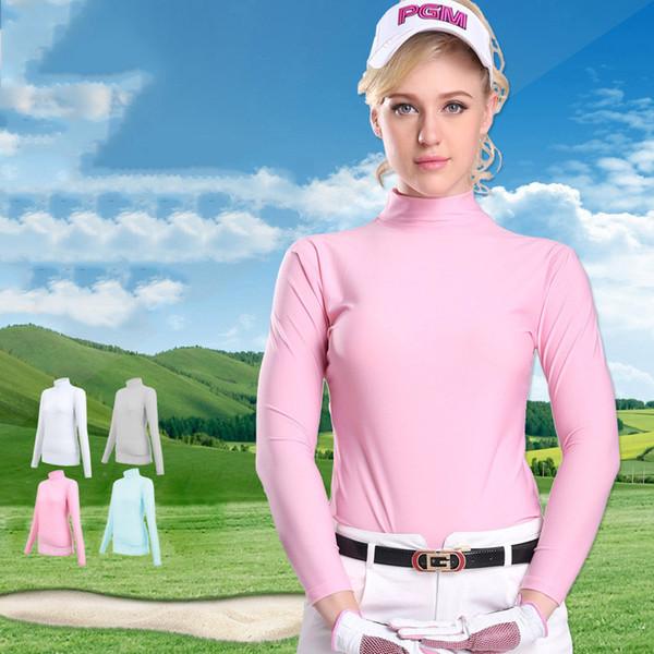 best selling Sports Shirts Women Running PGM Women Summer Clothing Underwear Golf Sunscreen UV Ice T-shirts Long Sleeve Clothes Golf Apparel