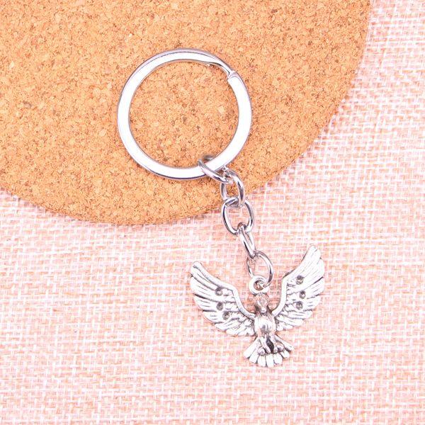 New Fashion eagle hawk KeyChain Handmade Metal Keychain Party Gift Jewellery 22*28mm