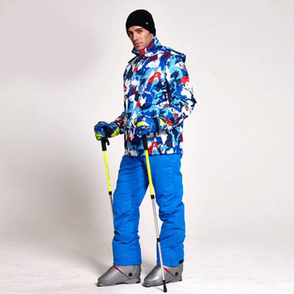 Winter Ski Suit Men Set Windproof Waterproof Warm Skiing Snowboarding Suits Set Male Outdoor Hot Ski jacket + Pants Hot