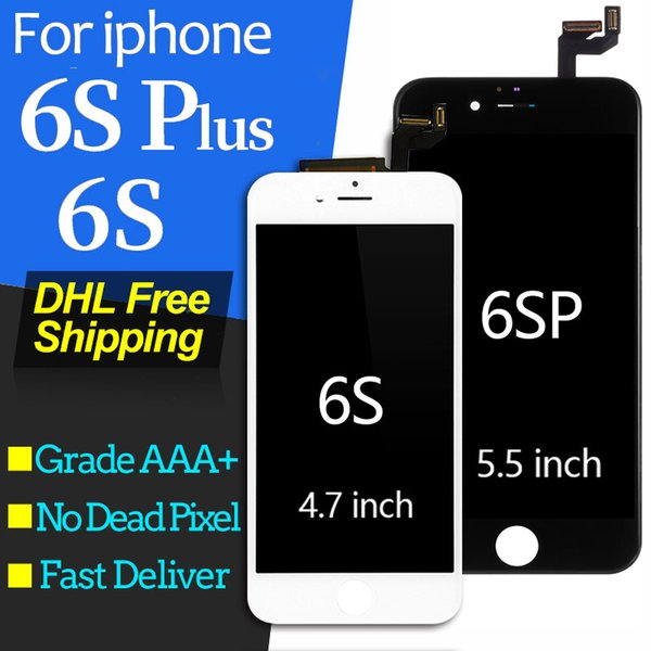 For iPhone 6S plus LCD Display With Digitizer Touch Screen Bezel Frame Assembly for iphone 6S LCD Screen White Black