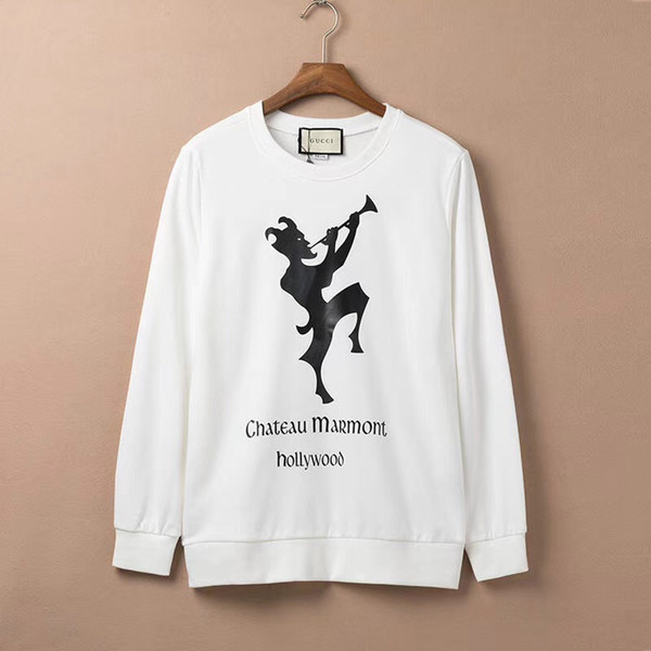 İtalya Designerd Erkek Kapüşonlular Klasik Casual Harf Erkekler Kadınlar Çizgili Tişörtü Kazak Hip Hop Erkekler Giyim yazdır
