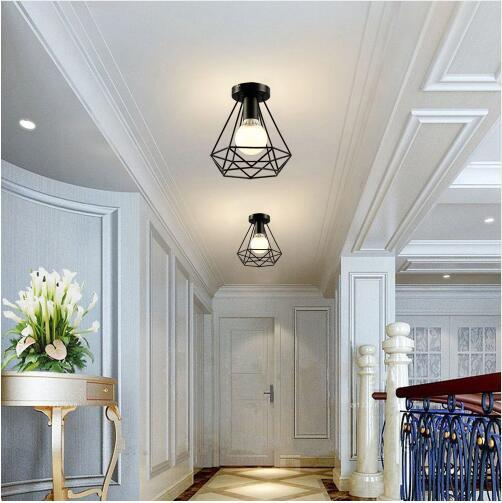 2019 Vintage Industrial Rustic Flush Mount Ceiling Light Metal Lamp Fixture American Style Village Style Creative Retro Light Lamps From Cindan