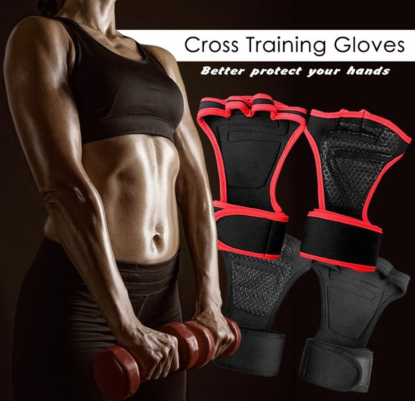 Weight Lifting Gloves Fitness Semi Finger Sports cross Heavyweight Training Gloves Hand Guards Wristbands Dumbbells Gym Silicone Padding