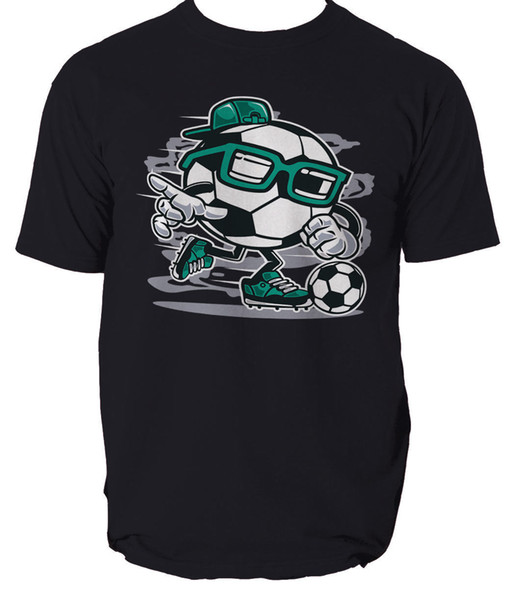 Street Soccer t shirt football ball comics s-3xl Men Women Unisex Fashion tshirt Free Shipping Funny Cool Top Tee Black