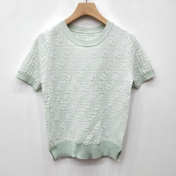 2019 Damen Designerkleidung Hemden Frühjahr und Sommer dünner Abschnitt Pullover Kurzarm-Shirt Damenmode Kleidung Ernte Tops Brief-Typ