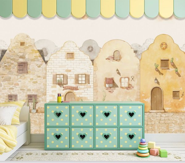 3D Photo Cartoon House 8D Wallpaper warm wallpaper for kids room bedroom Wall Murals Living Room Paper Home 8d Decor