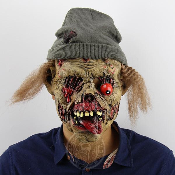 Nuova maschera per adulti costume horror maschera zombie custode tomba halloween roleplay zombie