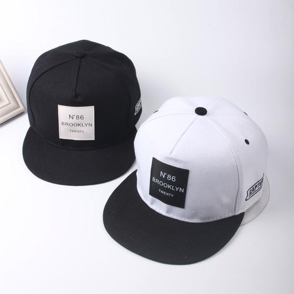 Нового Мужского Женского BROOKLYN Letters Solid Color Patch бейсболка хип-хоп шапки кожи Sun Hat Snapback Шляпа Bone бесплатно покупки