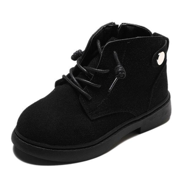 COZULMA Jungen Suede Lace-Up Ankle Boots-Schuhe für Kinder Mädchen Buckle Arbeitsstiefel Kinder Non-Slip Schuhe Größe 26-36