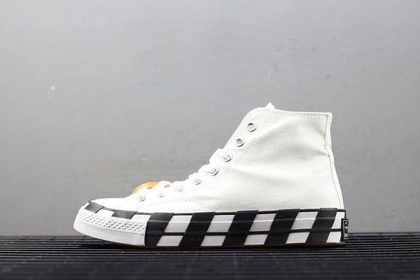 Acheter Converse X Off White 70 Blanc Rouge Orange Accrocheur SHOELACES Chaussures De Course En Toile Pour Hommes Et Femmes Taylor 1970S De La Mode