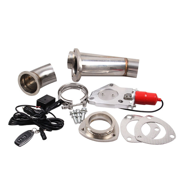 Car modification 2.5 Inch Electric Exhaust Catback Downpipe Y Pipe Cut Out Valve With Remote Kit Suitable for all cars