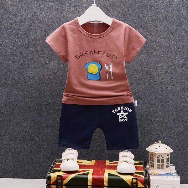 good quality boys clothing sets cotton summer letter printed kids suits t-shirt+shorts 2pcs cartoon sports suit 2018 baby boys coat
