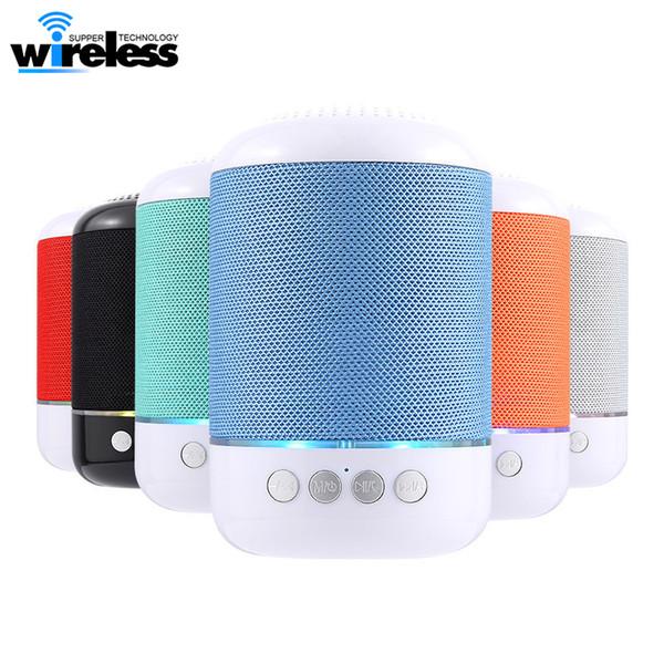 LED bluetooth hoparlörler tg115 mini kablosuz taşınabilir hoparlör tf usb müzik çalar fm radyo mic için iphone xs 8 artı samsung s9 note9