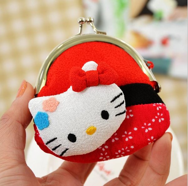 coins purse ,jewellery purse silk lucky cat gift animal for kids