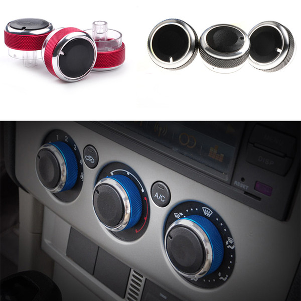 best selling 3Pcs Set Car Air Knob Air Condition Heat Control Switch Knob For Ford Focus 2 MK2 3 MK3 Mondeo Accessories