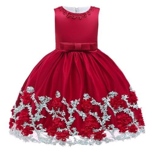 Flower Cake Tutu Kinder Kleidung Elegent Hand Perlen Mädchen Kleider für Kinder Prinzessin Party Custumes Gestickte 2-10 Jahre