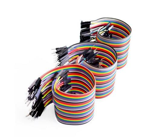 top popular Free shipping Dupont line 120pcs 10CM male to male + male to female and female to female jumper wire Dupont cable for Arduino 2021