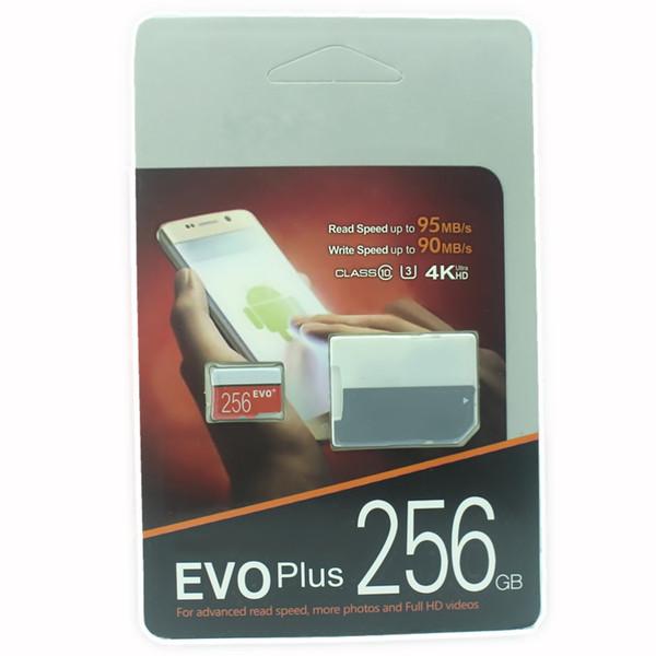 Cámara digital Smartphone 32GB 64GB 128GB 256GB EVO Puls Tarjeta de alta velocidad 90MB / S Class10 UHS-1 MicroSDXC Tablet PC Tarjeta TF