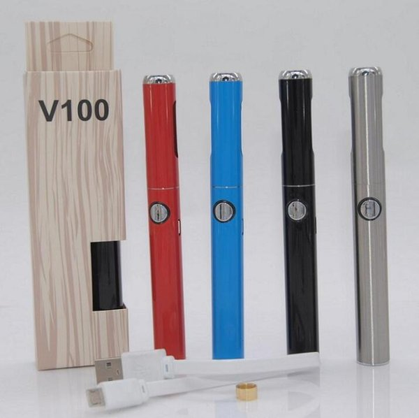 Authentic Hibron V100 Battery 650mAh Preheat Variable Voltage Discreet Vape Pen with USB Charger Mode Battery with blister pack DHL free