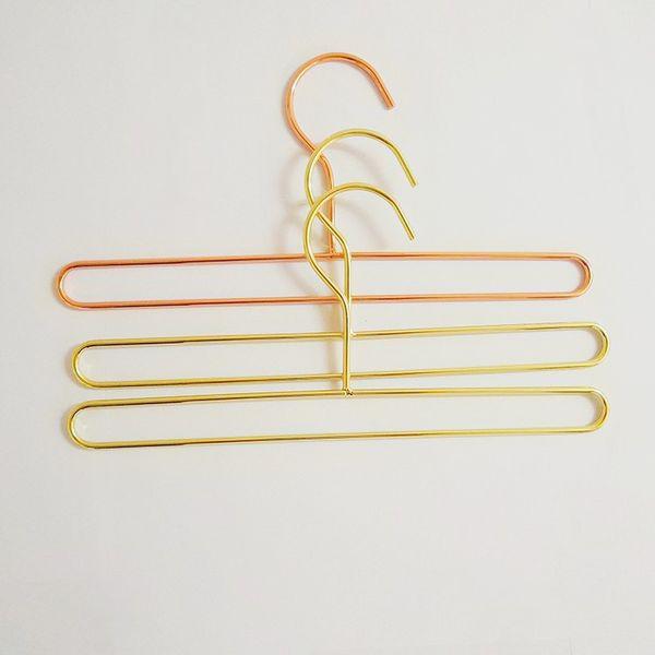 2 Tamaño Rose Gold Iron Wire Metal Towl Hanger Toalla de baño Calcetines Ropa Almacenamiento Perchas Rack para niños adultos