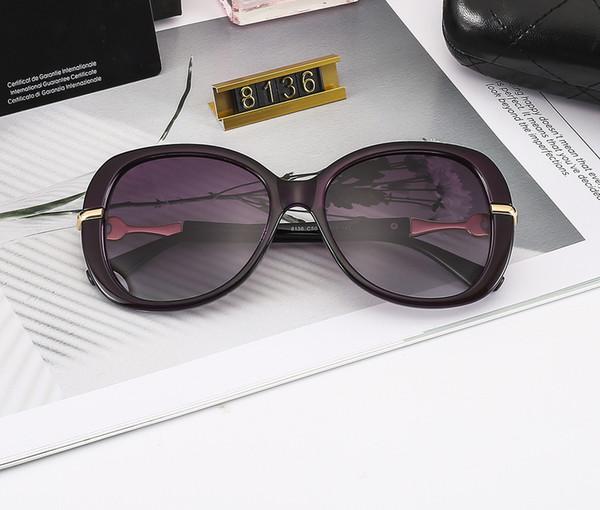 2019 Nuevas gafas de sol de diseñador Gafas grandes de gran tamaño Protección UV de alta calidad Gafas de lujo Gafas de sol populares de Tredny