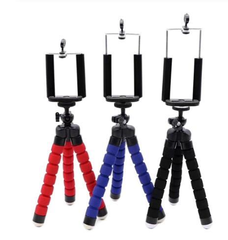 New Phone holder Tripods tripod for phone Mobile camera holder Flexible Octopus Bracket For iPhone Xiaomi Samsung Clip Holder Multicolor
