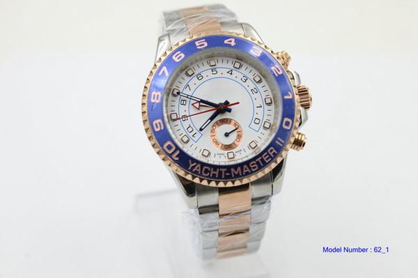 Vendedor caliente hombres reloj 116681 esfera blanca reloj de oro rosa Acero inoxidable movimiento automático relojes para hombre vestido de reloj de pulsera