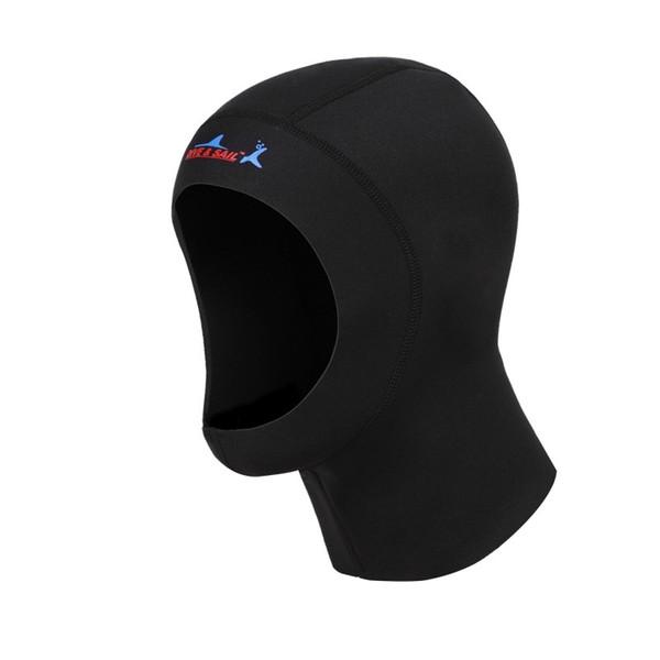 Зима плавать теплый защитить волосы уха неопрена подводное плавание Cap с плеча подводное плавание оборудование Hat Hood Neck Cover 3 мм C19040302
