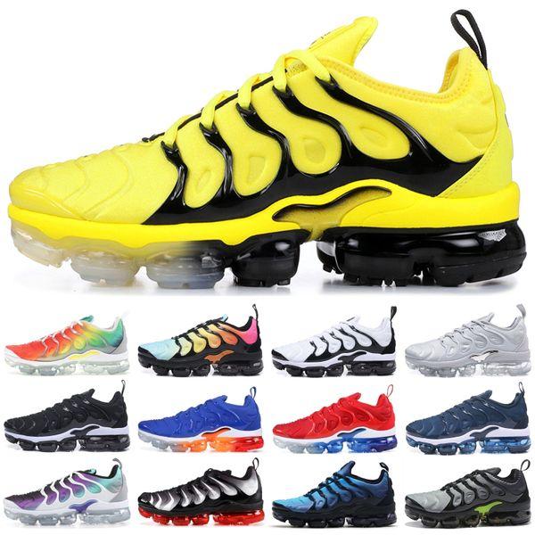 2019 Bumblebee TN Plus Designer Men Sneakers Black Speed Red White USA Photo Blue Top Quality New TN Men Women Sport Running Shoes 36-45