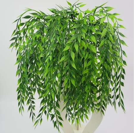 5 çatal yeşil Asılı Bitki Yapay Bitki Söğüt Duvar Ev Dekorasyon Balkon Dekorasyon Çiçek Sepeti Aksesuarları