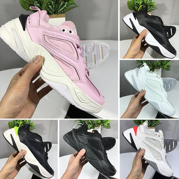 Nike Air Monarch the M2K Tekno 2019 NEUE Air Monarch die M2K Tekno Papa Sport Laufschuhe op Qualität Frauen Herren Designer Zapatillas Weiß Sport Trainer Turnschuhe
