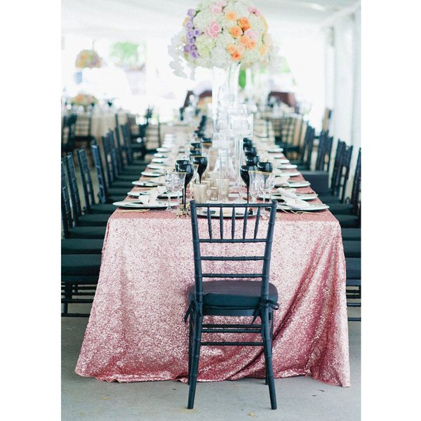 17 Color 225cmx330cm Glitter Pink Gold Sequin Tablecloth 90x132 Inch Wedding Tablecloth Decoration Rectangle Sequin Table Cloth T8190620