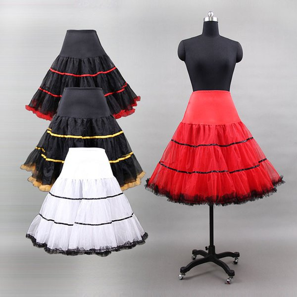 2019 New Arrivals Vintage 50s Rockabilly Petticoat Tutu Skirt Crinoline Underskirt In Stock for Ballet Dance Swing Retro