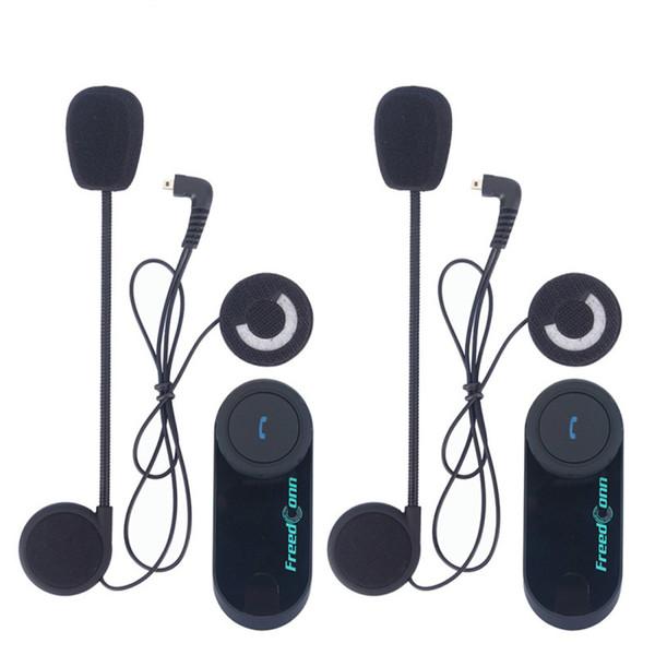 FreedConn 2 piezas T-COM VB Moto Casco inalámbrico Auriculares 800M Interfono Bluetooth Motocicleta Intercomunicador con radio FM