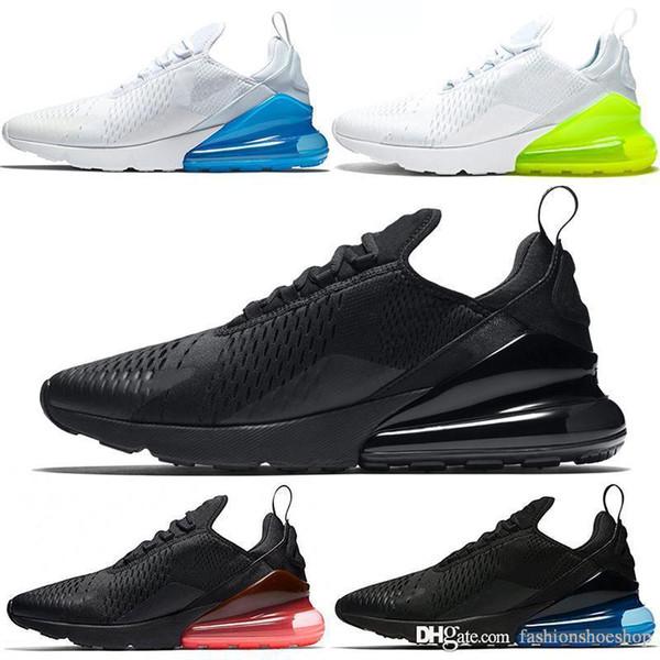 Großhandel 2019 Nike Air Max 270 Running Shoes Kissen Sneaker Designer Freizeitschuhe Trainer Off Road Star Eisen Sprite Tomato Man General Für Männer
