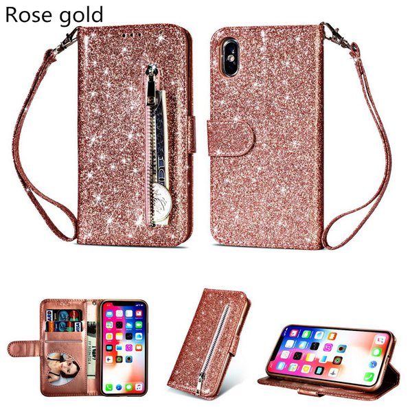 New 5.5inch/4.7inch multifunction women&men designer phone wallets fashion zipper zero purses casual smartphone cases 6colors no209