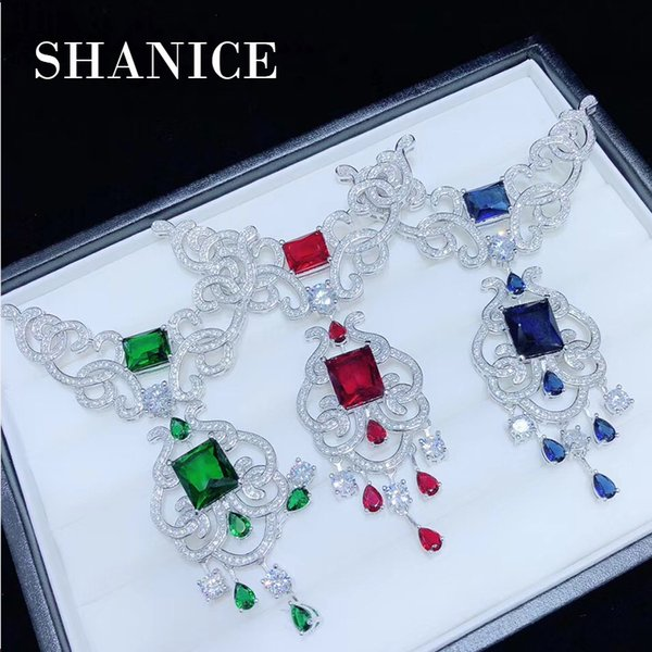 SHANICE Big Hollow Flower DIY Jewelry CZ Micro Paved Crystal Necklace Tassels Pendant Connectors Fine Jewellery Bracelets Making