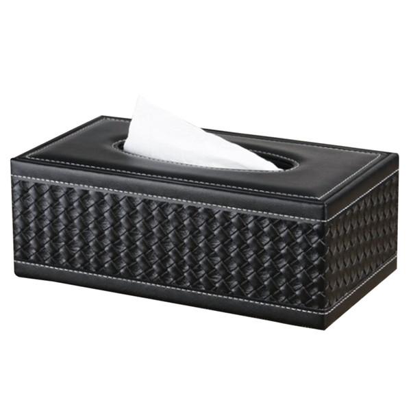 Tissue Case Practical Paper Box Antimoisture Waterproof Napkin Large Household Office Holder PU Leather Rectangular